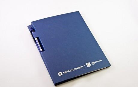 Папка и ручка «Металлоинвест»